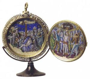 Medaglione raffigurante episodi della Passione di Cristo, Madrid, Istituto de Valencia de Don Juan, ultimo quarto del XV secolo